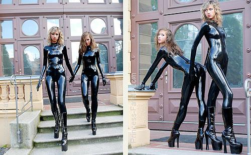 Latex Mistresses Teasing