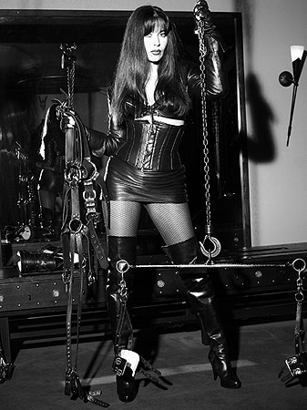 Leather Mistress teasing